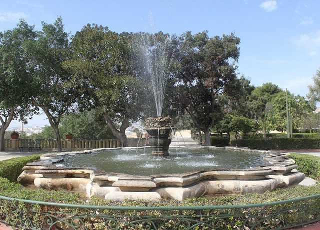 Fountain at Argotti Botanic Gardens, Floriana