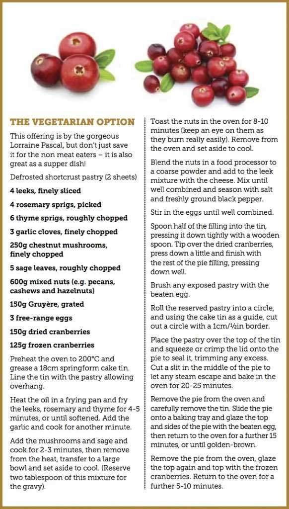 Vegetarian Cranberry pie