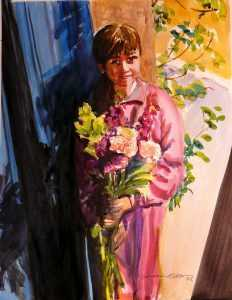 Mandy Stivala  my neighbours daughter original name of painting the Easter Bouquet by Doranne Alden Caruana