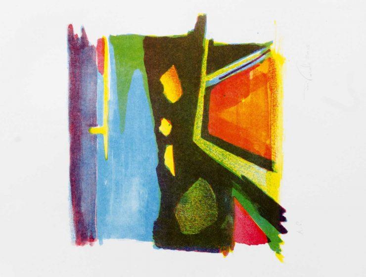 Malta, Baħar iċ-Ċagħaq, Colour, lithography, Maltese, artwork, artist, art, Jesmond Vassallo