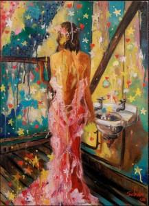 Bathroom Princess, art, artist, artwork, painting, Malta, Maltese,  Selina Scerri