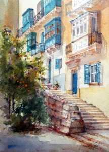 Blue Balconies by Jacqueline Agius