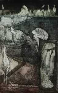Untitled Etching - Roderick Camilleri