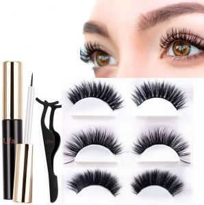 False lashes with liner